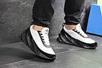 Мужские кроссовки Adidas Sharks (бело-черные), фото 6
