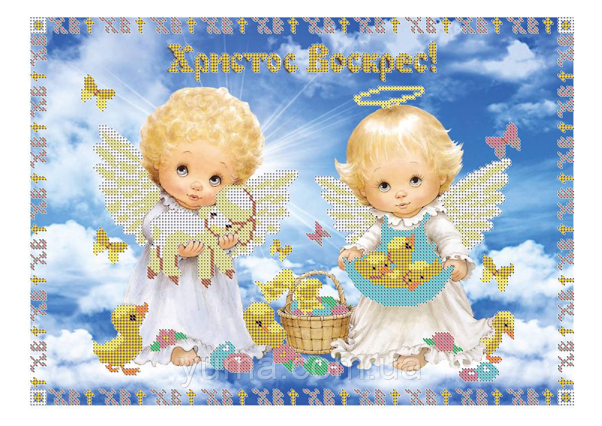 """Схема для частичной вышивки бисером """"Пасхальные ангелочки"""""""