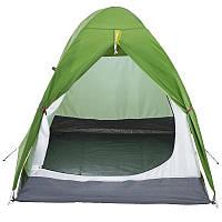 Палатка купольная 2-местная туристическая зеленая