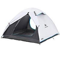 Палатка купольная 3-местная туристическая, самонесущая конструкция с дугами (темная ткань внутри)