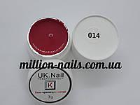 Гель-краска  для ногтей UK.Nail №14 цвет ярко-красный 7 грамм