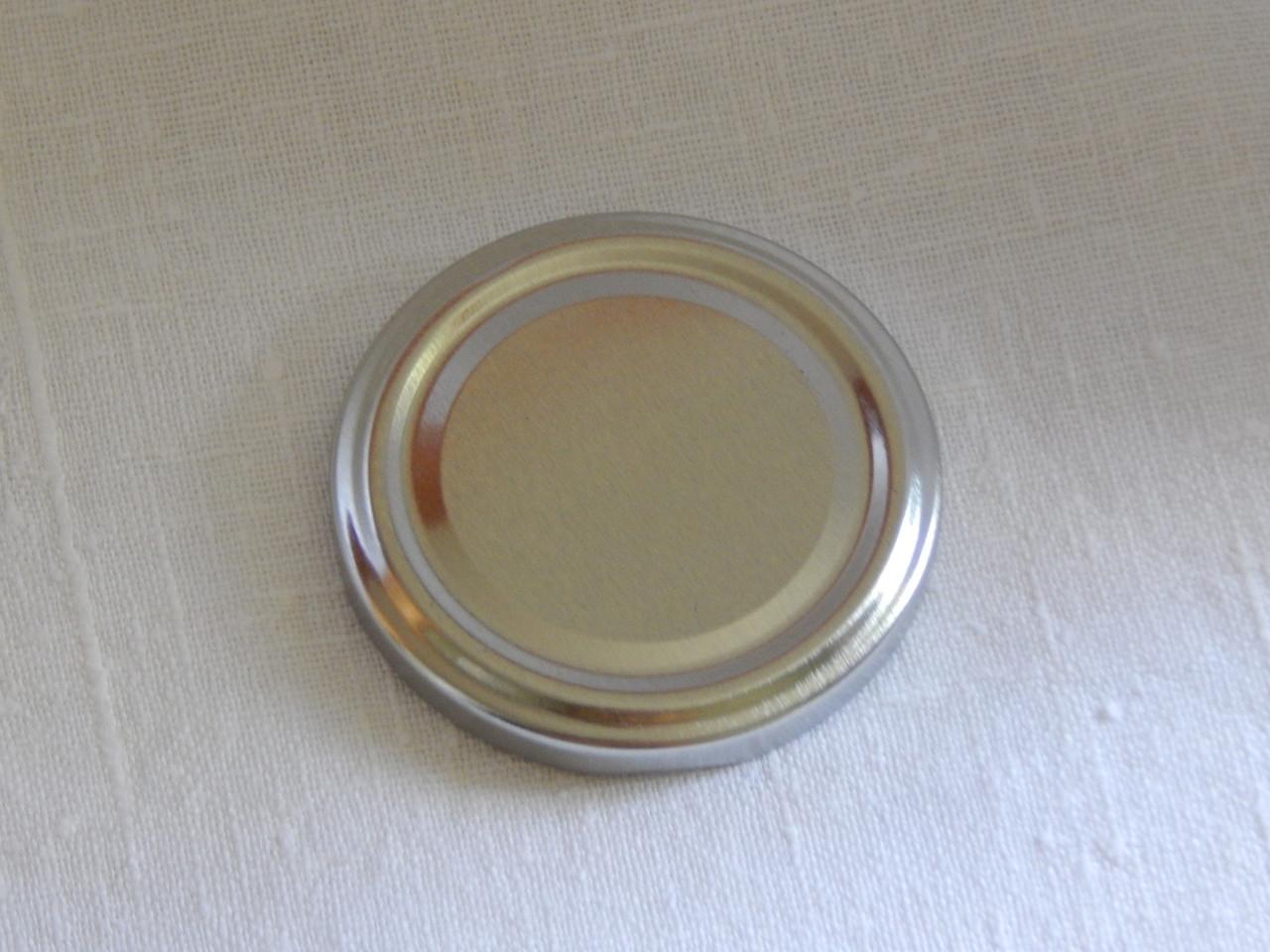 Крышка закаточная твист-офф размер 63 мм серебро