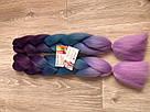 💙💜 Канекалон Омбре фиолетовые оттенки, коса прядь для причёсок 💙💜, фото 3
