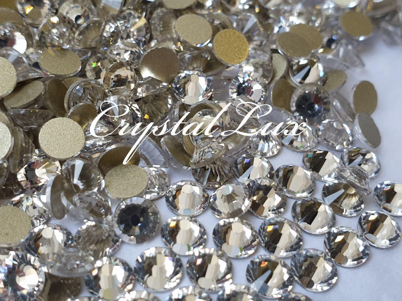 Стразы Lux ss16 Crystal (4.0mm) gold foil 1440шт