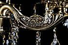 Классическая люстра-свеча на 6 лампочек СветМира VL-7922/6 (античная бронза), фото 3