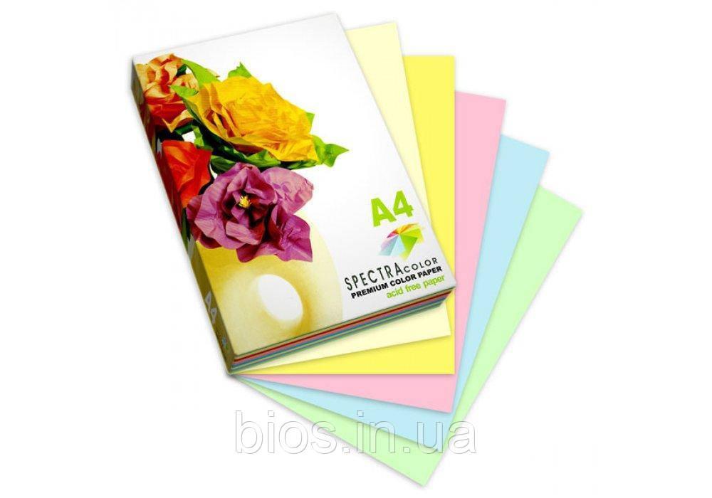 Н-р папір кольор. А4/80 5х50/250арк. Spectra Color-Rainbow Pack Пастель