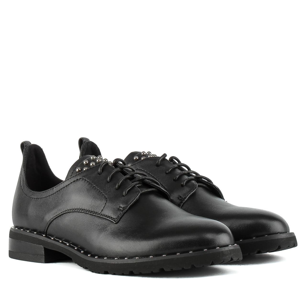 Туфли женские My Classic (кожаные, черные, удобные, модные)