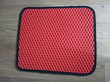 Коврики под миски для котов и собак цвет красный