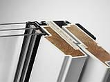 Мансардное влагостойкое окно VELUX Стандарт GLU 0051, ручка сверху, дерево/полиуретан, 78х160, фото 4