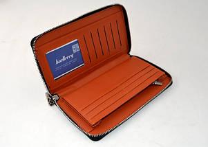 Портмоне Baellerry Leather Model 1 SW008 чорний гаманець для чоловіків стильне якісне портмоне, фото 2