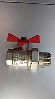 Кран радиаторный c американкой Kalde