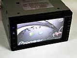 Магнітола Pioneer PI-713 2din GPS кольорова камера і TV антена, фото 4