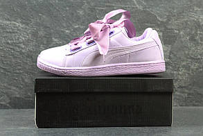 Женские кроссовки в стиле Puma Sude Bow, фиолетовые 37 (23,3 см)
