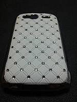 Чехол Diamond накладка для Htc Wildfire S A510e  белый