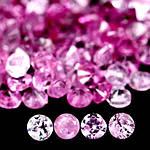 1.80 кт Природный розовый сапфир без стекла,только нагрев 120 шт 1.4 мм.