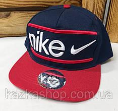 Подростковая реперка, арбузка, кепка с прямым козырьком с вышивкой в стиле Nike (копия), размер 56