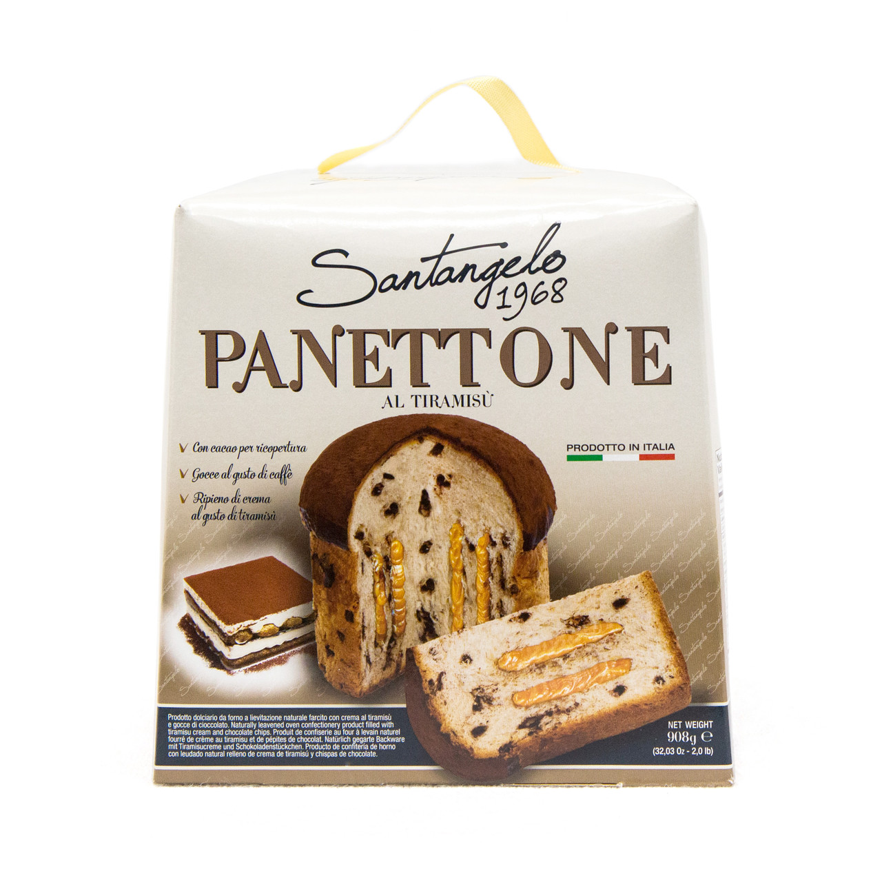 Паска Santangelo PANETTONE alla tiramisu, 908г, 6шт/ящ