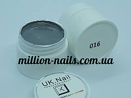 Гель-краска  для ногтей UK.Nail №16 цвет серый,7 грамм