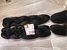 🖤 Канекалон Однотонный, пряди цветные искуссвенных волос для кос, черный 🖤, фото 2