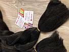 🖤 Канекалон Однотонный, пряди цветные искуссвенных волос для кос, черный 🖤, фото 5