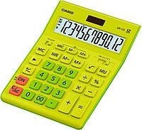 Калькулятор настіл. Casio GR-12C-GN-W-EP, 12 розр. велики дисплей, зелено-жовтий