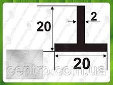 Алюминиевый тавр (Т-образный профиль) 20*20*2, Без покрытия