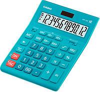 Калькулятор настіл. Casio GR-12C-LB-W-EP, 12 розр. велики дисплей, блакитний