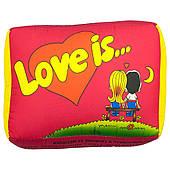 Подушка Love is (Красная) 150417-002