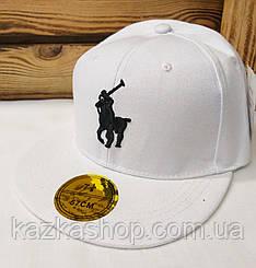 Подростковая реперка, арбузка, кепка с прямым козырьком с вышивкой Polo, размер 57