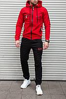 Мужской спортивный костюм EA7 красный