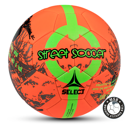 Мяч футбольный SELECT STREET SOCCER NEW (206) оранж/зел р. 4,5, фото 2