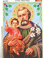 КР-6. Схема для вышивки бисером Святой Иосиф с младенцем Иисусом.