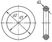 Кольца резиновые 004-010-30 ГОСТ 9833-73