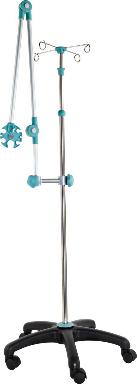 Тележка-стойка для капельницы с регулировкой по высоте с держателем для трубок