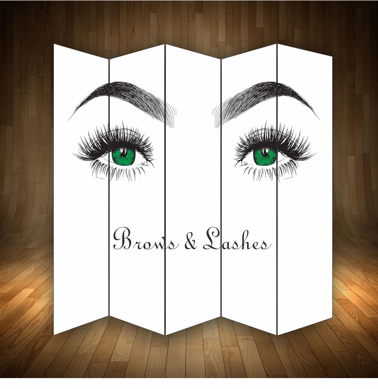 """Ширма декоративна """"  Зелені очі """""""