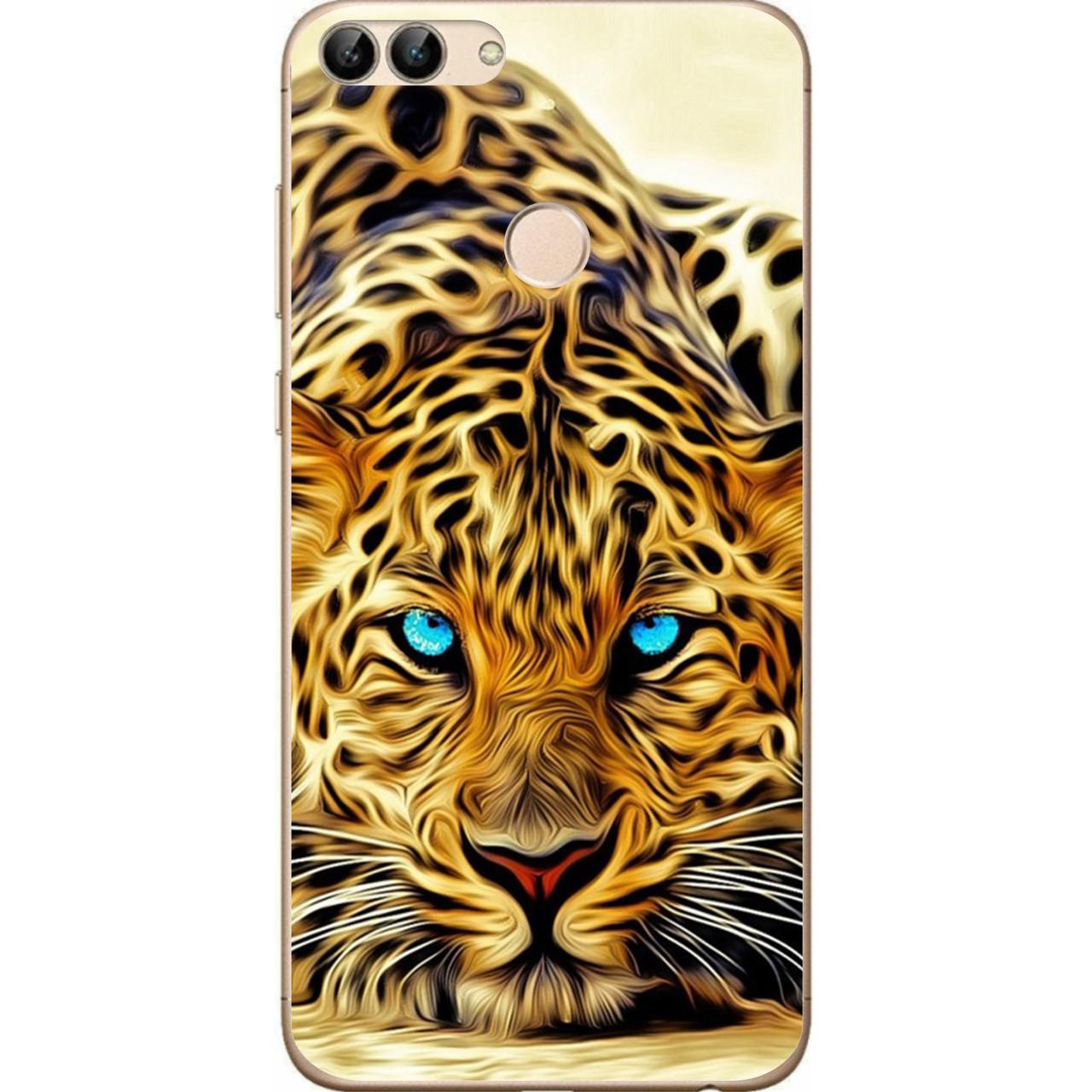 Силиконовый чехол для Huawei P Smart с картинкой Леопард