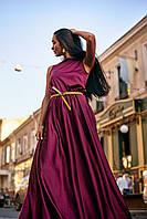 Женское Яркое Платье вечернее 2019 - марсал