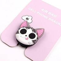 Милый 3d popsocket/попсокет для телефона детский «Happy cat» силиконовый