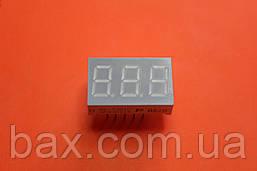 """Индикатор семисегментный 3 разряда 0.36"""" зелёный катод RL-T3610 GDAW"""