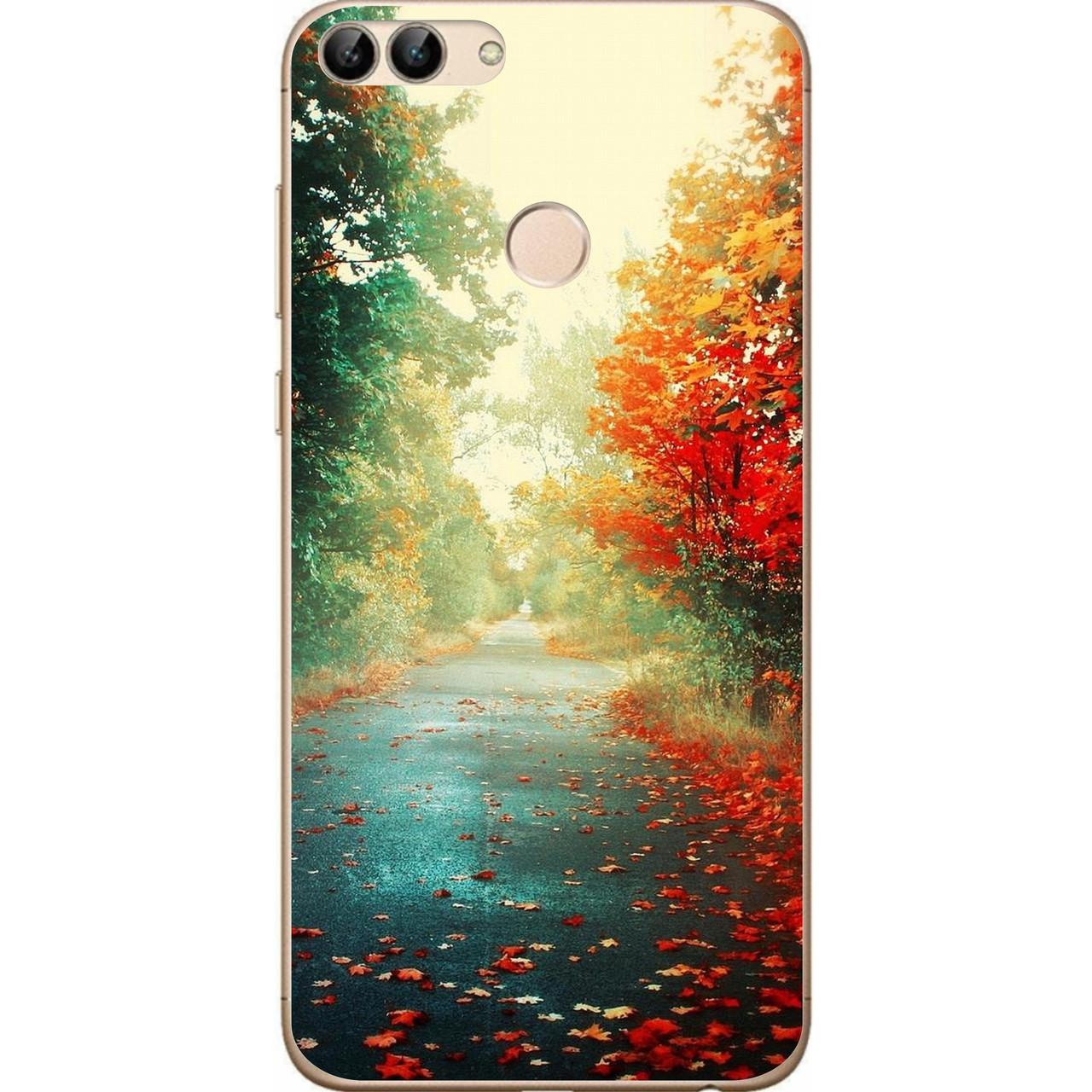 Силиконовый чехол для Huawei P Smart с картинкой Осень