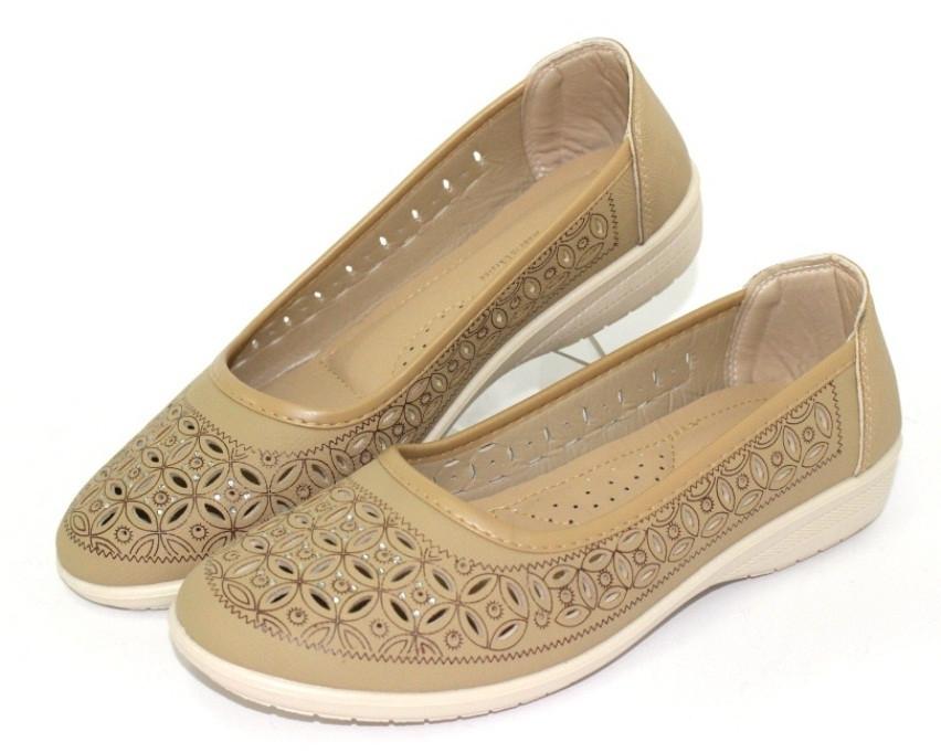 Туфли кофейного цвета на лето