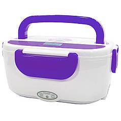 ★Ланч-бокс с подогревом Lesko RJH-A2 Purple на два отделения контейнер для еды электрический пластиковый