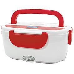 ★Ланч-бокс Lesko RJH-A2 Red контейнер с подогревом еды на два отделения 40 Вт теплоизоляция герметичность
