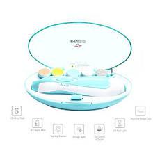 Набір для манікюру baby's Manicure Set (6 насадок) Блакитний