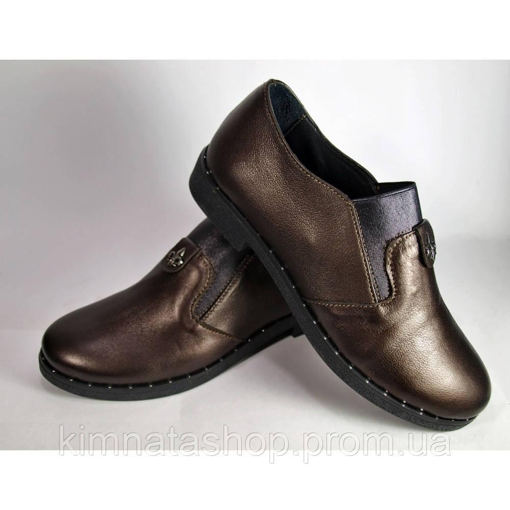 Туфли женские кожаные на танкетке  Nansy Black , весна/осень, размер 36-41