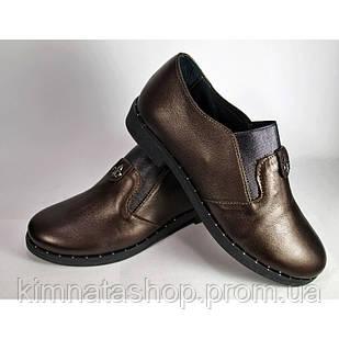 Туфлі жіночі шкіряні на танкетці Nansy Black , весна/осінь, розмір 36-41