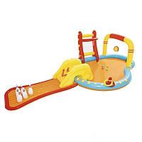 Надувной игровой центр Bestway 53068 «Маленькие чемпионы», 435 х 213 x 117 см, с игрушками и шариками, фото 1