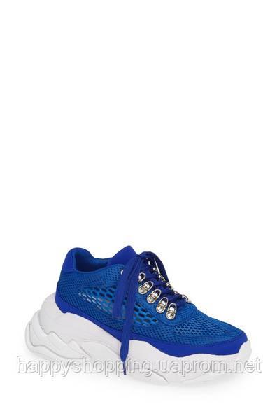Женские оригинальные летние синие текстильные кроссовки Jeffrey Campbell