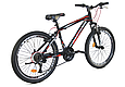 """Подростковый велосипед CROSSRIDE """"SKYLINE"""" 24"""" с крепкой стальной рамой, Черно-красный, фото 3"""