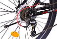 """Подростковый велосипед CROSSRIDE """"SKYLINE"""" 24"""" с крепкой стальной рамой, Черно-красный, фото 5"""